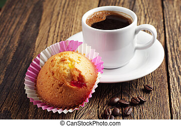 Cupcake and coffee