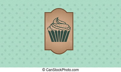 Cupcake animation - cupcake label Video animation, HD 1080