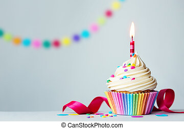 cupcake, birthday