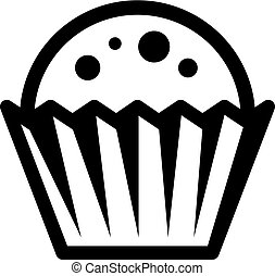 cupcake black symbol