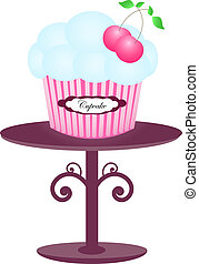 Cupcake blue on the stand