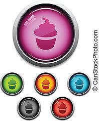 Cupcake button icon