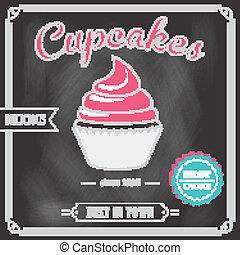 Cupcake chalkboard poster