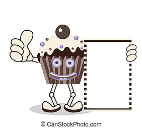 Cupcake Chocolate Banner