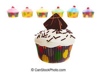 cupcake, cioccolato