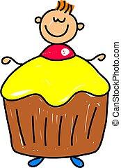 cupcake, criança