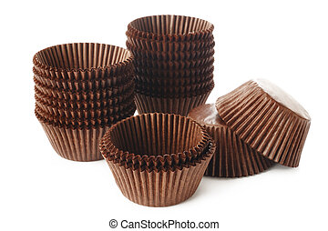 cupcake cup on white background
