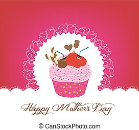 cupcake cute happy mothers day card