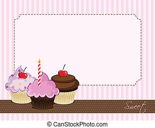 cupcake, delicioso