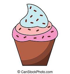 Cupcake dessert cartoon