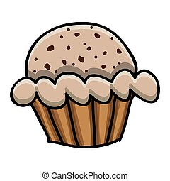 cupcake doodle icon image