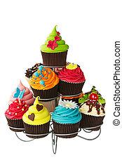 cupcake, estante
