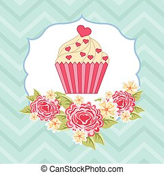 cupcake, etiqueta