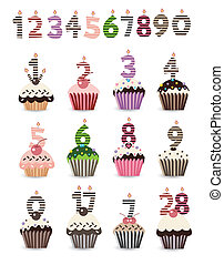 Cupcake for Birthday with Number Ca