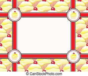 Cupcake frame