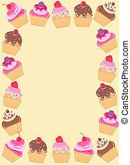 cupcake frame - a frame of cucakes
