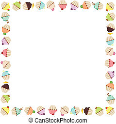 Cupcake Frame - Scalable vectorial image representing a...