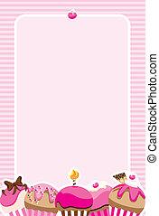 Cupcake Girls Invite/Menu - Pretty pink invitation design...