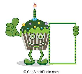 Cupcake green Banner