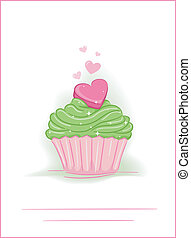 Cupcake Heart