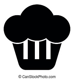 Cupcake icon black color illustration flat style simple image