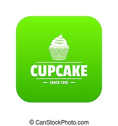 Cupcake icon green
