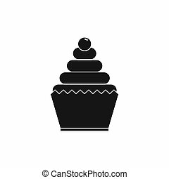 Cupcake icon, simple style