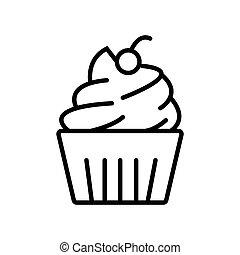 cupcake icon vector illustration photo