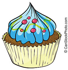 Cupcake - Illustration of an isolated cupcake