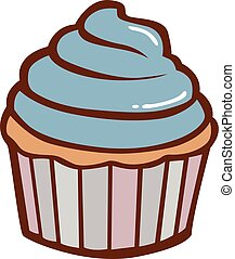 Cupcake Illustration Vector Clipart