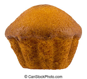 Cupcake isolated on a white background close-up.