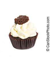 Cupcake isolated on white background.
