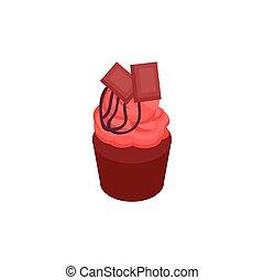 Cupcake Isometric Icon