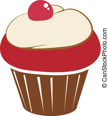 Cupcake logo with a cherry