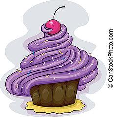 cupcake, lukier