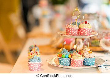 cupcake on shelf