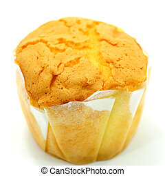 Cupcake on white background.