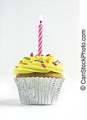 cupcake, op wit