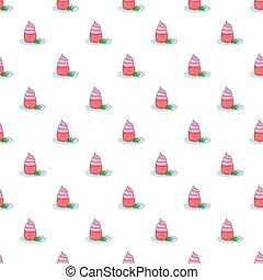 Cupcake pattern, cartoon style