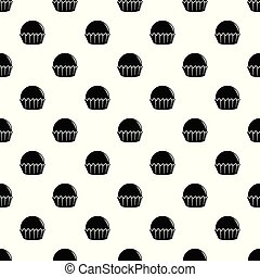 Cupcake pattern vector seamless