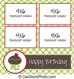 cupcake scrapbooking template for birthday or bakery