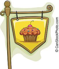 cupcake, signage