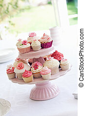 Cupcake stand - Dessert stand filled with delicious cupcakes