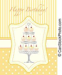 Cupcake stencil invitation - A stencil style silver cake ...