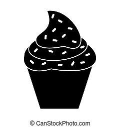 cupcake sweet dessert pictogram