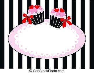cupcake tag label invitation