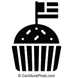 Cupcake vector, United state independence day related icon