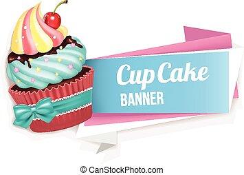 cupcake, vector, spandoek