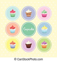 cupcake, vettore