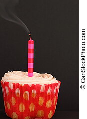 Cupcake with blown out candle